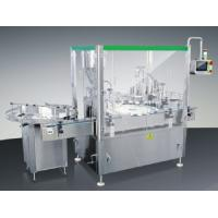 Buy cheap Automatic Bottle Filling Cap Screwing And Pressing Machine With Bottle Feeding Machine product