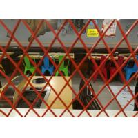 Buy cheap Decoration Expanded Aluminum Mesh , 0 . 4mm Thickness Red Coating Expanded Mesh from wholesalers