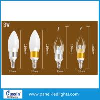 Buy cheap 3 W Glass Shape Led Candle Lights / E14 Chandelier Led Candle Lamp CE from wholesalers