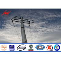 Buy cheap 11m 3mm Thickness Electrical Steel Utility Pole For Transmission Line from wholesalers