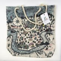 Buy cheap Rope Handle Canvas Shopping Bags with Customized Full Color Printing from wholesalers