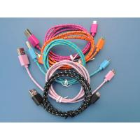 China Micro USB Cable for Samsung, DC Camera, Android Cell phone with Nylon Mesh on sale