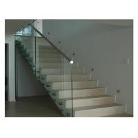Buy cheap Floor Mounted Stainless Steel Glass Balustrade , Standoff Building Deck Railing from wholesalers