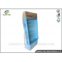 Buy cheap Advertising Cardboard Stand Up Display , Cardboard Display Shelves Sky Blue Appearance from wholesalers