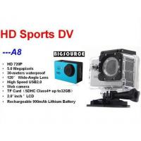 Mini Action Camera For 30M Waterproof Camcorder A8 720P HD Sports Camera Support SD