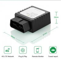 Buy cheap Play and Plug Tracking Wireless 4G LTE Vehicle GPS OBD Tracker Device Car tracking product