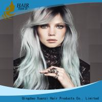Buy cheap Full Cuticles Blond Synthetic Hair Wigs Water Wave Mixed Color Strong Weft from wholesalers