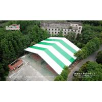 Buy cheap 40m WIdth Tent With greem and white color Roof cover for temporary event party from wholesalers