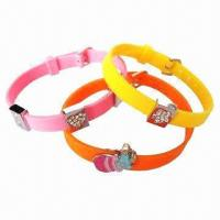 Buy cheap New Arrival Silicone Bracelets with Various Designs Charms from wholesalers