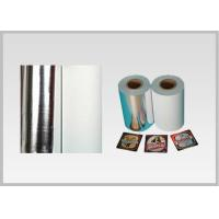 Buy cheap Non Toxic Vacuum Metallized Paper , Ink Retention Lamination Paper Roll For Beer Wine Bottle Label In High Quality product