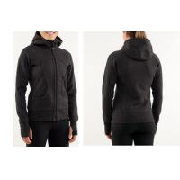 Buy cheap OEM Black Full Zipped 300gsm Cotton Fleece Women Sport Hoodie Sports Shirt from wholesalers