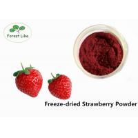 Buy cheap Natural Freeze Dried Strawberry Fruit Powder Natural Flavour Rich Nutrition from wholesalers