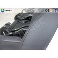 Buy cheap Black / Red Genuine Leather 5D Movie Theater , Fiberglass Chair Electronic System product