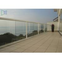 Buy cheap Customized Outdoor Stair Handrail Corrosion Resistance Aluminum Glass Railing from wholesalers