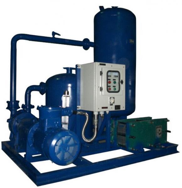Vacuum Pump System Design : Air rejector with liquid ring vacuum system used for food