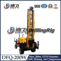 Buy cheap DFQ-200W High Efficient Trailer DTH Rock Drill Rig, Portable Drilling Rig Machine for Sale from wholesalers