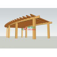 Custom Arch Free Standing Pergola , Wood Plastic Composites Ready Made Pergola