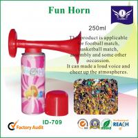 Buy cheap Colored Plastic Horn For Basketball / Soccer Match 250ml , Fun Party Items from wholesalers