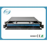 Buy cheap Drawer Custom Fiber Optic Cable Assemblies , 19 Inch 24 Port Fiber Rack Mount from wholesalers