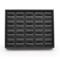 Buy cheap Black Leatherette Stackable Jewelry Trays , 20 Rings Jewelry Trays For Dresser Drawers from wholesalers