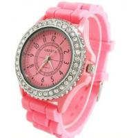 Buy cheap 2012 Luxury Silicone Geneva watches with Crystal Quartz from wholesalers