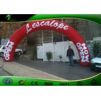 Buy cheap Red Color Advertising Inflatable Arches / Finish Line Entrance Arch With Logo Printing from wholesalers