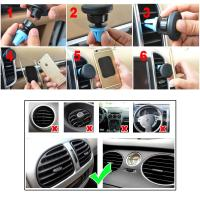 Buy cheap Portable Magnetic Air Vent Mount iPhone 6S / 6 / 5s Samsung HTC LG MEIZU GPS from wholesalers