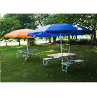 Outdoor Garden Table Parasol , Polyester Fabric Patio Table Umbrella 4C Print