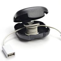 Buy cheap Red / Black Earbud / Earphone Cable Winder Cable Drop Clips 7*8*3 from wholesalers