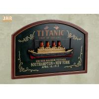 Buy cheap Memorial Titanic Wall Decor Wooden Wall Plaques Resin Cruise Ship Antique Wood Pub Sign from wholesalers