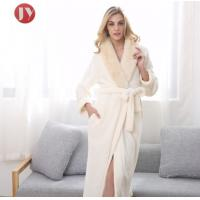 Buy cheap Hot Sale Extra Long Fleece Women Robe Night Gown luxury Fur Collar Bathrobe Plus Size Winter Thickening Dressing gown from wholesalers