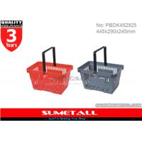 Buy cheap Colorful Hand Shopping Baskets , Rolling Plastic Hand Basket 22L For Grocery Stores from wholesalers