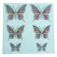 Buy cheap Crystal/acrylic stickers, non-toxic, used for promotional/decoration/advertisement purposes product