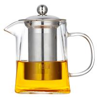 Buy cheap 2018 new design square shape Heat-Resistant Borosilicate pyrex glass teapot with SS infuser from wholesalers