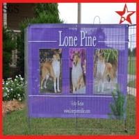 Buy cheap promotional advertising full color vinyl pvc mesh fence banners from wholesalers