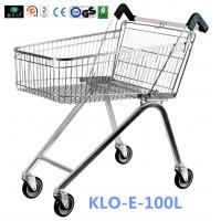 Zinc Plated Low Carbon Steel UK Shopping Cart 100L European Style