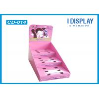 Buy cheap Pink Cardboard Counter Display , 3 Tier Counter Display For Dressing Mirror from wholesalers