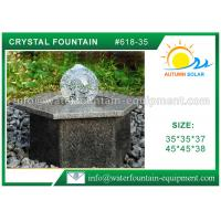 Buy cheap Hexagon Base Natural Stone Fountains Outdoor For Lanscape Hand Carved from wholesalers