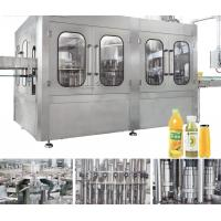 Buy cheap Automatic Monoblock 3 In 1 Plastic Bottle Filling Machine , Fruit Juice Filling Machine from wholesalers