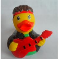 Buy cheap Guitar Player Character Rubber Duck Bath Toys , Rubber Duckies That Float Upright  from wholesalers