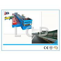Buy cheap Galvanized Steel Metal Forming Machine , Fence Highway Guardrail Forming Machine Tracking Cutting from wholesalers