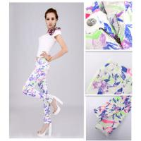 Buy cheap Hot sle Fashion Summer Restore Women's Elastic Pants Flower Printing trousers temperament lady's pants A014LDW# from wholesalers