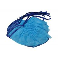 Buy cheap Blue PP Non Woven Disposable ESD Shoe Cover Conductive Knitted Ribbon from wholesalers