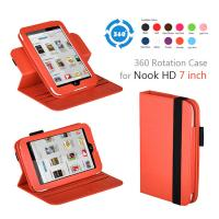 Buy cheap Orange PC Nook Color Leather Covers , 360 Rotating 7 Inch Tablet Cases from wholesalers