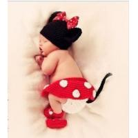 Buy cheap Newborn Baby Photo Prop Crochet Custom Mickey Mouse Photography Back Drop Props Clothing Sets from wholesalers