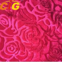 Buy cheap Bright Color Tear Resistant Sofa Upholstery Fabric , Jacqaurd Polyester Velvet Fabric product