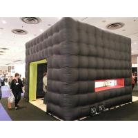 Buy cheap Black cube exhibition tent inflatable from wholesalers