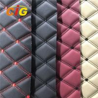 Buy cheap Hot Selling Embroidery PVC leather with High Density Foam Used for Car Seat Car from wholesalers