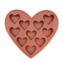 Buy cheap 10 Cavities Silicone Heart Shaped Ice Cube Trays For Chocolate Ice Cream Cake from wholesalers