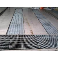 China Impact Resistant Galvanized Drain Cover , Steel Plate Trench Cover For Municipal Road on sale